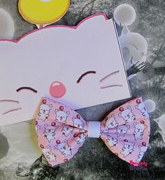 Moogle Final Fantasy Hair bow  Kawaii Geeky gamer handmade fabric bow on Etsy, $7.67 CAD