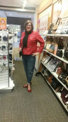 At the shoe store