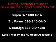 Support Phone #s