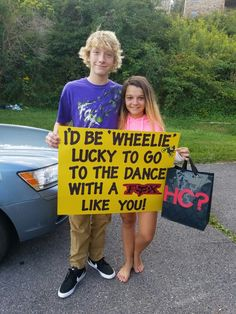 Homecoming Invite, Promposal, Wheelie Lucky...Fox racing shirt in the bag