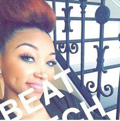 this benjie that Makeup On Fleek, Flawless Makeup, Eyebrow Makeup, Hair Makeup, Black Girls Hairstyles, Cute Hairstyles, Beauty Make Up, Hair Beauty, Eyes Game