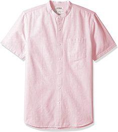 Summer Shorts Outfits, Summer Shirts, Short Outfits, Collarless Shirt Men, Mens Holiday Clothes, Badass Style, J Crew Men, Oxford Fabric, Branded Shirts