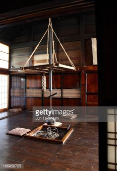 hang the iron kettle at fireplace in old Japanese house. Tiny Cabins, Japanese Architecture, Japanese House, Kettle, Yamagata, Iron, Ayurveda, Chakra, Tea Pot