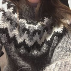 It's finally cold enough to justify wearing my wool sweater from Iceland.
