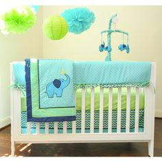 "Pam Grace Creations Zig Zag Elephant 10-Piece Bedding Set - Pam Grace Creations - Babies ""R"" Us"