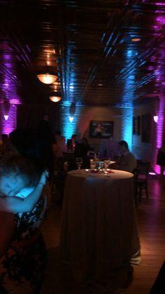 Wedding Lighting & Deluxe monogram with accent lighting at River Oaks (Napoleon Room ... azcodes.com