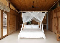 Tropical Resort With Sustainable Decor on Con Dao Island bedroom sustainable decor