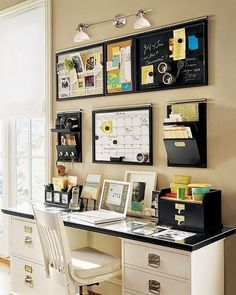 Working from your home office can be a distraction to anyone. Thats why I always make sure I have my home office neat and tidy. Home Office Ideas Setup Furniture Desks Chairs Tables decorations Decor Home Office Space, Home Office Design, Home Office Decor, House Design, Desk Office, Office Spaces, Office Nook, Workspace Design, Design Design