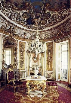 Linderhof Palace | Dining room, Linderhof Palace, Germany