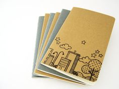 Moleskine Pocket Skyline Notebook Cahier journal by vitaminaeu, €8.00