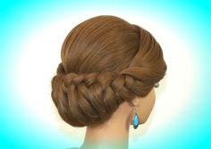 Holiday Braided Updo Hairstyle for Long Hair. Thanksgiving Hairstyle