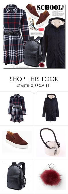 """""""School Style"""" by beebeely-look ❤ liked on Polyvore featuring BCBGMAXAZRIA, Mudd, Forever 21, BackToSchool, plaid, schoolstyle, backpacks and twinkledeals"""