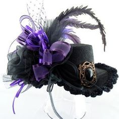 Purple Plum Passion Mini Top Hat Victorian Steampunk | GypsyGoods - Accessories on ArtFire