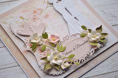Craft and You Design: A wedding card/ Ślubna kartka