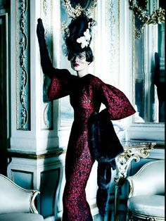 Catherine McNeil for Vogue UK, September 2013.  Photograhed by Mario Testino.