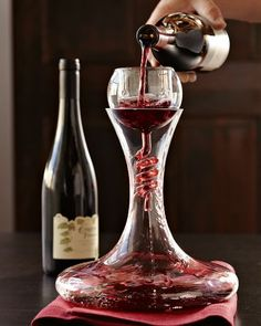 My new wine Decanter I got for Christmas. It looks like a Science project. Twister Wine Aerator & Decanter with Stand Set Red Wine Decanter, Vides, Wine Deals, Expensive Wine, In Vino Veritas, Wine Time, Wine And Spirits, Wine Making, Wine Drinks
