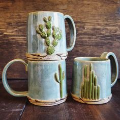 These mugs from are such fantastic pieces. Make sure you don't miss the Joshua tree version on her feed by myfavmakers Cactus Decor, Cute Mugs, Shabby Vintage, Mug Cup, Ceramic Pottery, Tea Pots, Coffee Mugs, Drinking Coffee, Creations