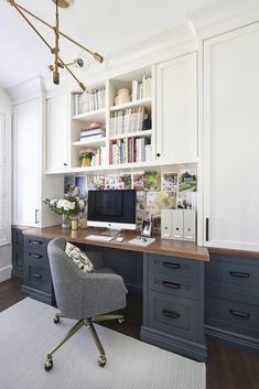 Top Home Office Ideas For Better Work At Home. Here are the Home Office Ideas For Better Work At Home. This post about Home Office Ideas For Better Work Cozy Home Office, Home Office Space, Home Office Desks, Office Nook, Small Office Spaces, Office With Two Desks, Home Offices, Basement Home Office, Corner Office