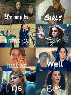 Hermione Granger, Tris Prior, Susan and Lucy Pensieve, Clary Fray, Hazel Lancaster, Katniss Everdeen, Annabeth Chase, Teresa Agnes
