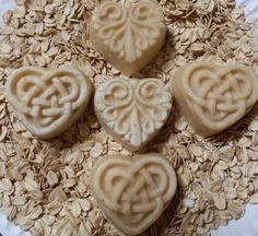 Oatmeal & Honey Guest Hearts Soap