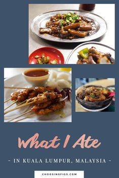 I like Asia because I can eat how I want to eat and not feel weird. I can eat Chinese food every day. Here it is called food… What I ate in Kuala Lumpur, Malaysia: Chicken and beef satay. Beef Satay, Malaysia Travel, I Want To Eat, Kuala Lumpur, Chinese Food, Travel Around The World, Figs, Chicken, Ethnic Recipes