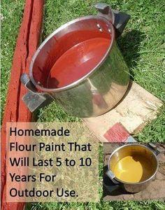 Homemade exterior flour paint