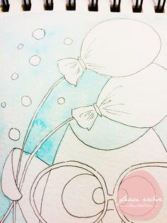 Aquarell. Watercolour. Happy Birthday. Kids.
