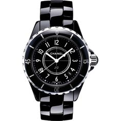 cf90a00b619 Check out this gorgeous Chanel black lacquered ladies watch!