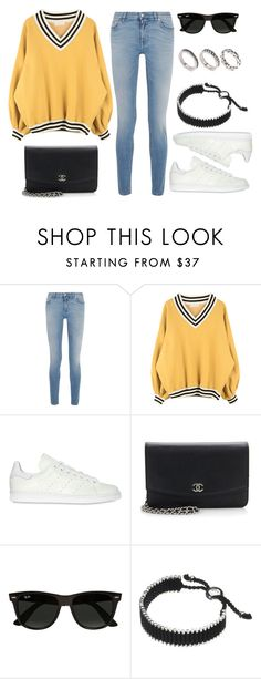 """""""Sin título #11874"""" by vany-alvarado ❤ liked on Polyvore featuring Givenchy, adidas Originals, Chanel, Ray-Ban, Links of London and ASOS"""