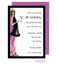 21st Birthday Party Invitations Adult Ideas