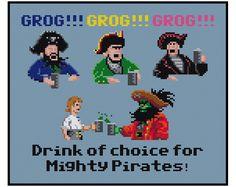 Monkey Island Grog Video Game - Cross Stitch PDF Pattern Instant Download