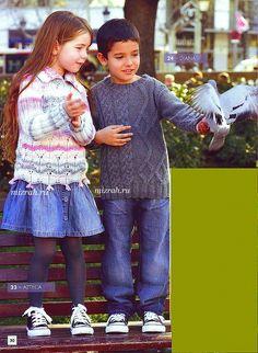Для девочек и мальчиков от 4-х до 12 лет: свитер спицами. Обсуждение на LiveInternet - Российский Сервис Онлайн-Дневников