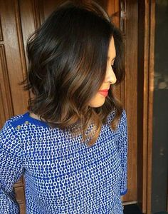 Long-Bob-Dark-Hair-with-Balyage.jpg (500×637)
