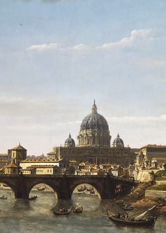William Marlow - View of Rome from the Tiber (detail) - c. 1755