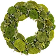 http://www.pinterest.com/BebeTheCTBelle/wreaths-that-i-love/ I Love Moss Wreath!!! Bebe'!!! I would add some Jute roping wound around the moss and add a jute bow!!!