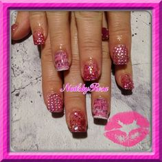 Juicy couture nails by rosielena - Nail Art Gallery nailartgallery.nailsmag.com by Nails Magazine www.nailsmag.com #nailart