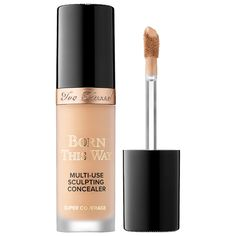Shop Too Faced's Born This Way Super Coverage Multi-Use Sculpting Concealer at Sephora. A hydrating, full-coverage, weightless, four-in-one formula. Too Faced Concealer, Cream Concealer, Concealer Brush, Sephora Makeup, Makeup Cosmetics, Makeup Glowy, Beauty Makeup, Hair Makeup, Maquiagem Too Faced