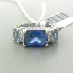 Judith Ripka 18k Gold Diamond Gem Stone Ring  http://hamptonestateauction.com/
