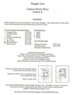 """Letters from Nora """"A"""" 5 Cross Stitch Letters, Cross Stitch Samplers, Cross Stitching, Mill Hill Beads, Alphabet, Elves And Fairies, 26 Letters, Stitch 2, Le Point"""