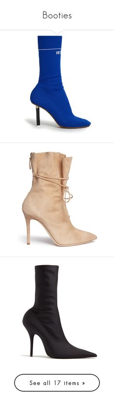 """""""Booties"""" by mimzyel on Polyvore featuring shoes, boots, ankle booties, red, ankle boots, heels, thick booties, red short boots, heeled booties and sock bootie"""