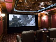High-mass materials and mechanical isolation were used on the walls, ceiling and floor of this theater to create a sound-isolation envelope....