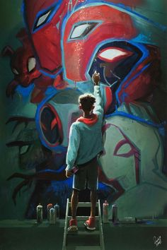 My piece from the Gallery Nucleus Into the. Spiderman into the spider verse Marvel Comics, Hero Marvel, Marvel Fan, Marvel Memes, Marvel Avengers, Rogue Comics, Spiderman Marvel, Amazing Spiderman, Spiderman Kunst