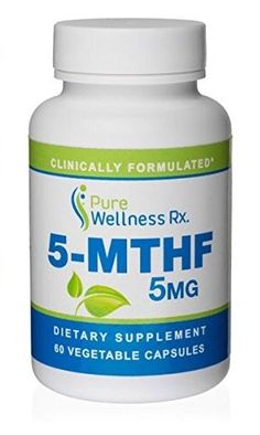 Pure Wellness Rx  L5MTHFR Folate Supplement  5 mg Folate 60 Vegetarian Capsules NON GMO PHARMACIST FORMULATED *** Check out this great product by click affiliate link Amazon.com