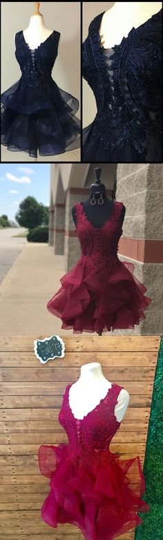 2017 Homecoming Dresses made in lace appliqued top and proof organza skirt,short homecoming dresses,short prom dresses,cheap homecoming dresses,graduation dresses,sweet 16 dresses