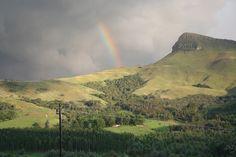 Rainbow over Nhlosane Mountain Monument Valley, Rainbow, Mountains, Nature, Travel, Rain Bow, Rainbows, Naturaleza, Viajes