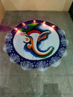 Easy Rangoli Designs Videos, Simple Rangoli Border Designs, Easy Rangoli Designs Diwali, Rangoli Designs Latest, Free Hand Rangoli Design, Rangoli Ideas, Rangoli Designs Peacock, Rangoli Patterns, Colorful Rangoli Designs