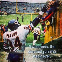 Sweetness  Walter Payton #34 #chicagobears #dabears