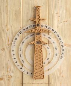 Diy Calender, Creative Calendar, Wooden Calendar, Calendar Design, Wood Projects, Woodworking Projects, Wood Crafts, Diy And Crafts, Clock Art