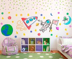 The amazing, any color, change-as-you-go dry erase wall, dry-erase paint, Make Any Surface a Drawing Pad with Transparent Dry Erase Paint | Brit + Co. Playroom decor, kids bedroom decor, wall ideas