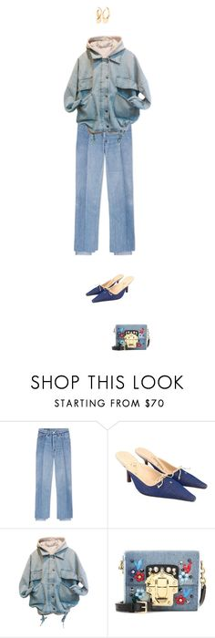 """until midnight."" by sharplilteeth ❤ liked on Polyvore featuring Vetements, Chanel, Dolce&Gabbana, IWouldWearThis, contestentry and alldenim"